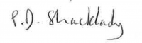 Shacklady signature